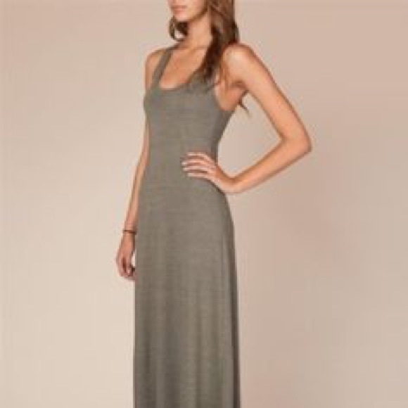 Alternative Apparel Dresses Olive Green Racerback Maxi Dress